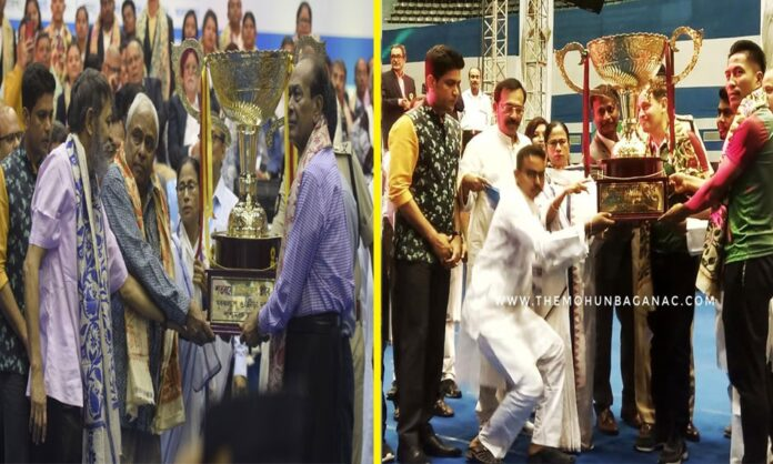Eastbengal and Mohun Bagan being feliciated by westbengal government
