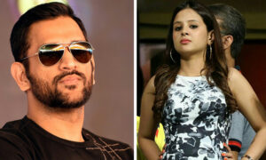 akshi Scolds MS Dhoni For Parking His Bike At The Wrong Place