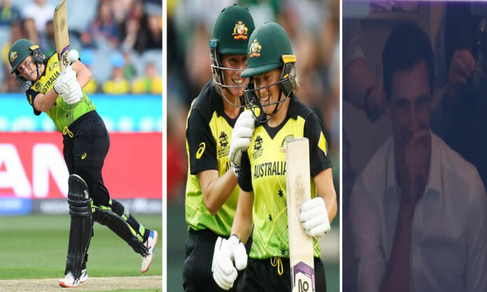 Mitchell Starc watches wife Alyssa Healy's heroics in t20 world cup final