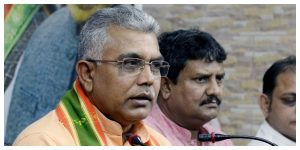 'Go to the councillor's house and defecate', says Dilip Ghosh