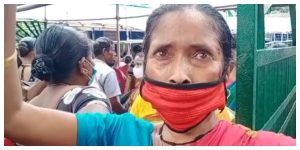 Blood is dripping from her head, but the old woman who came to take advantage of the Lakshi Bhandar project is still reluctant to go to the doctor