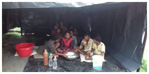 Many homeless people raised the Teesta water level, and local panchayat members extended a helping hand