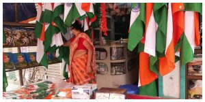 Shopkeepers focus on selling plastic-free national flags on Independence Day