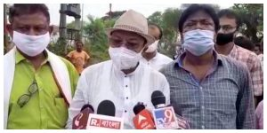Minister Arup Roy visited the flood-hit areas, announcing huge relief