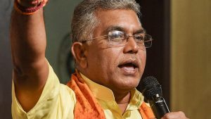 MUKUL ROY DOES NOT HAVE THE COURAGE TO STAND FACE TO FACE SAYS DILIP GHOSH