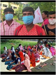 STUDENTS OF CLASS 11 HELD A PROTEST AT MURSHIDABAD